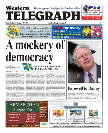 Pembrokeshire County Council leader responds to special Western Telegraph P1 comment