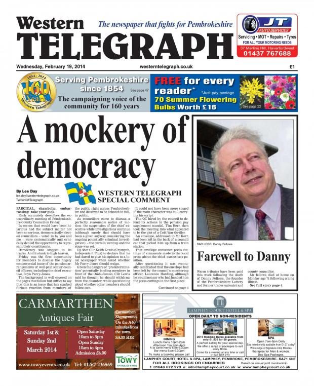 Western Telegraph: Special Western Telegraph comment: A mockery of democracy