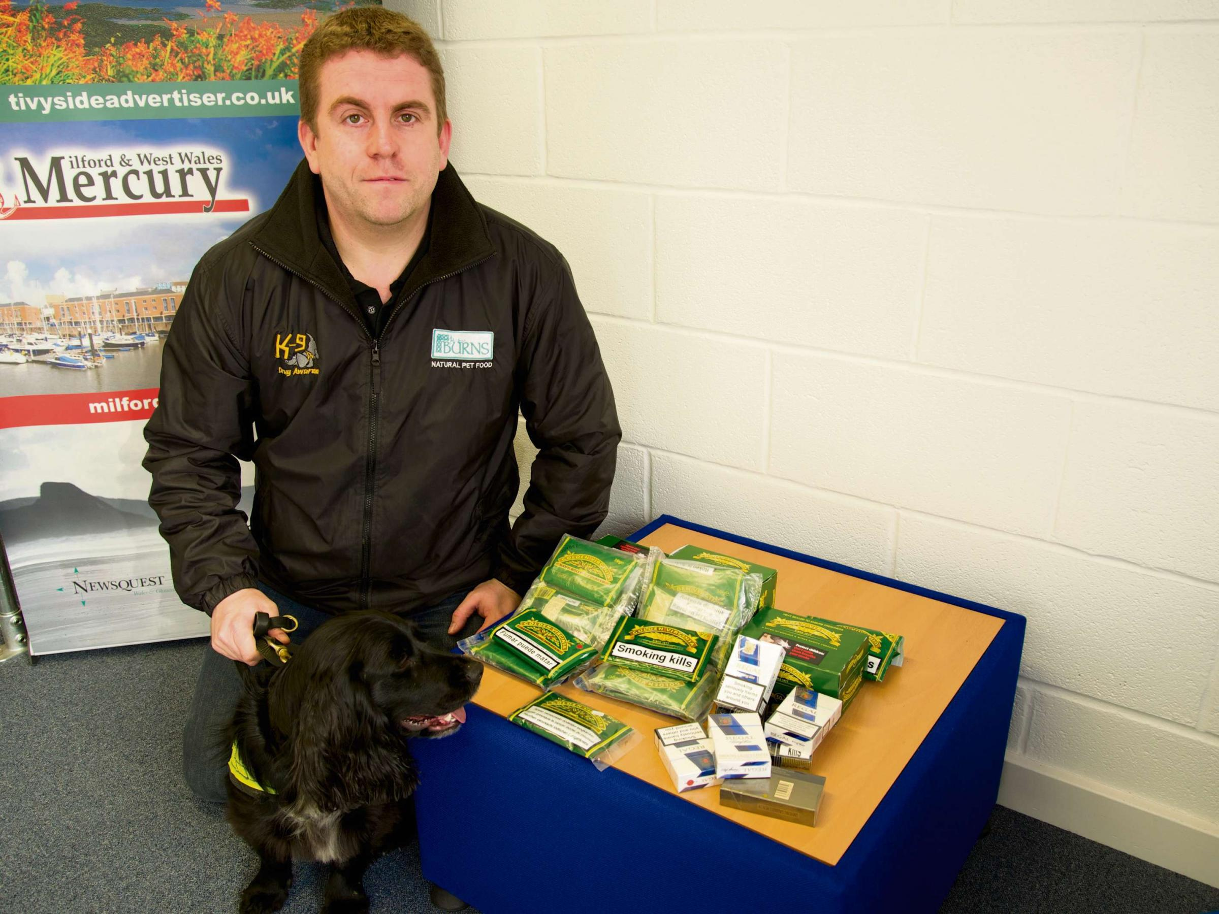 Drugs dog handler warns of counterfeit tobacco dangers
