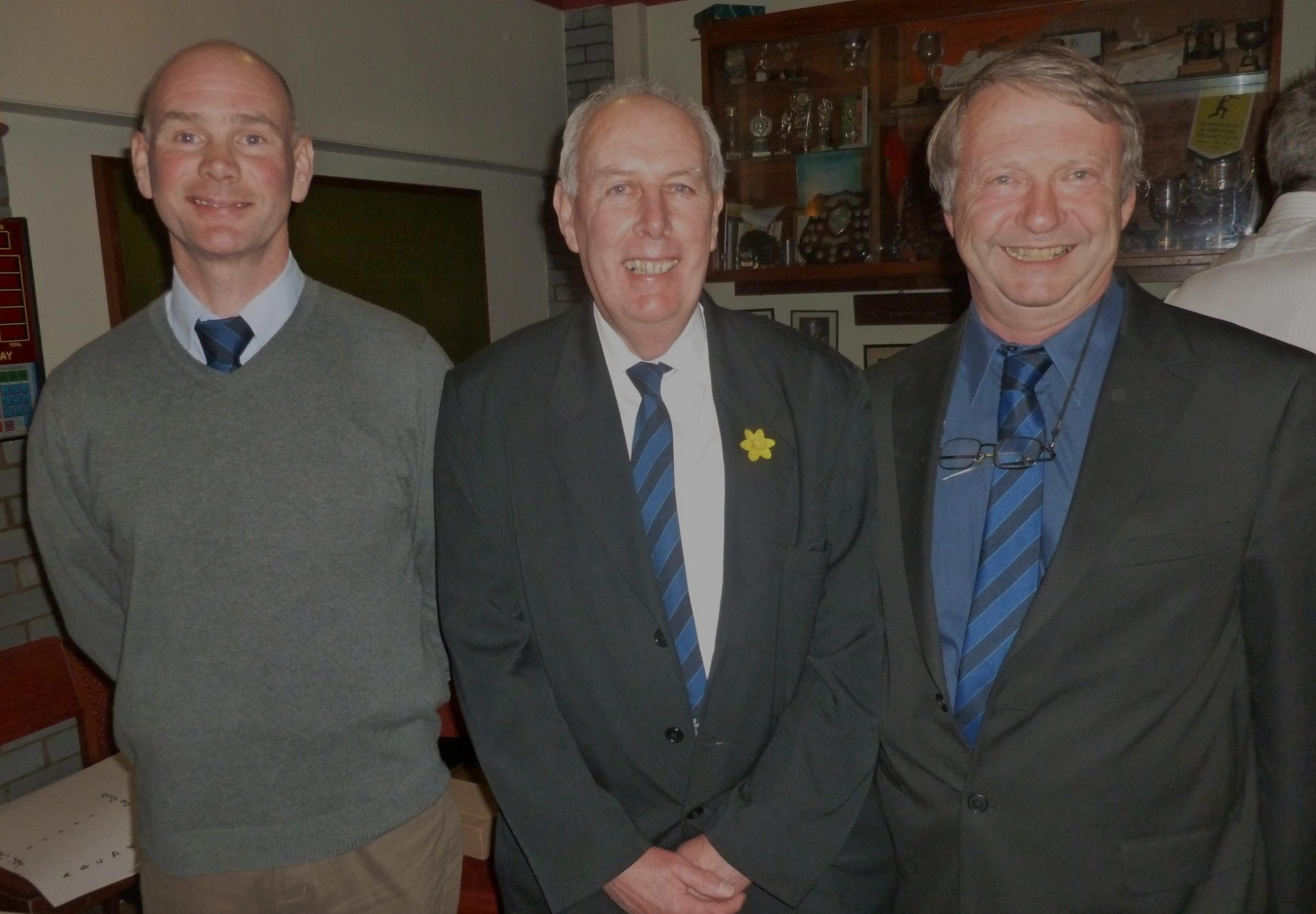 TOP TRIO: Tony Scourfield (centre) with Paul Webb and Steve Blowes. (4300050)
