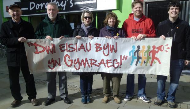 I WANT TO LIVE IN WELSH: The message from campaigners in Haverfordwest on Saturday. (4495465)