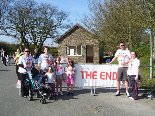 Western Telegraph: WELL DONE: Runners at the finish of the Sport Relief Mile in 2012