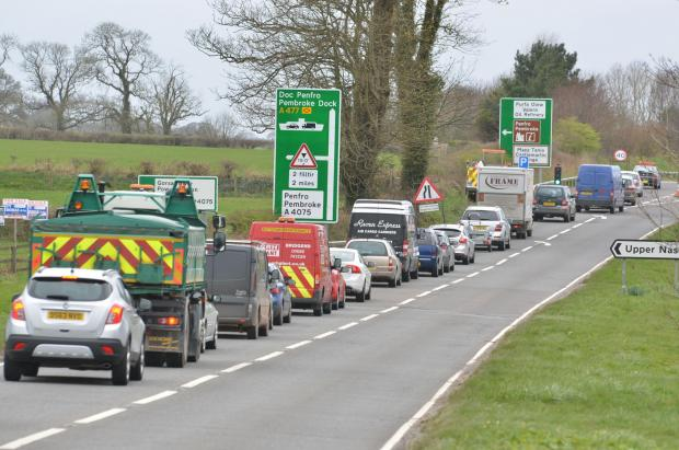 Traffic congestion at the roadworks. PICTURE: M