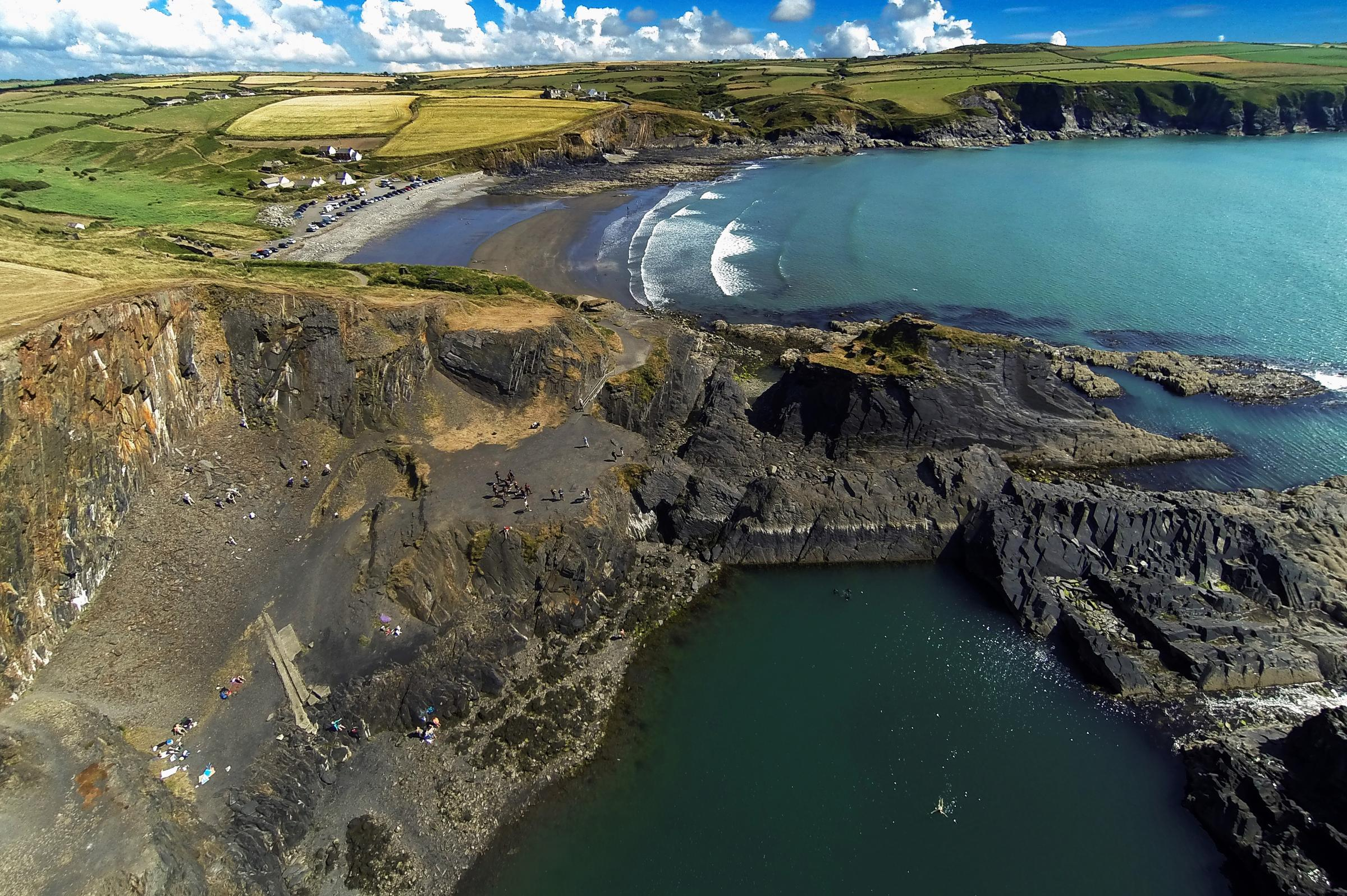 A bird's eye view of Pembrokeshire as county company takes off