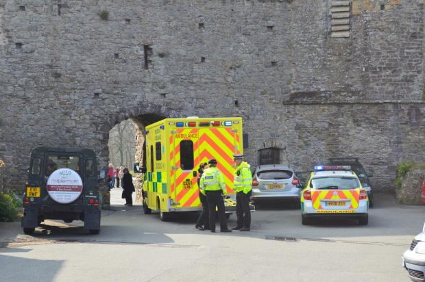 Emergency services at the scene. PICTURE: Western Telegraph.
