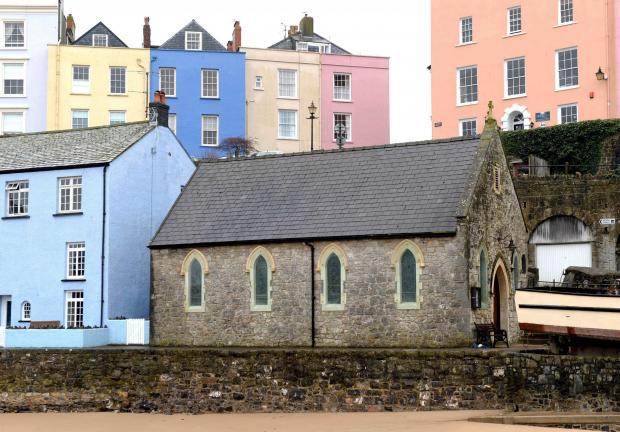 UNHOLY ROW: The iconic St Julian's Church at Tenby Harbour. PICTURE: Gareth Davies Photography. (4845619)