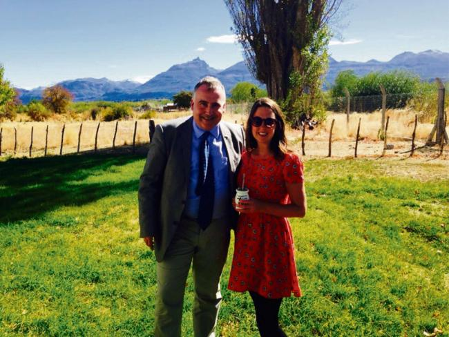 ADVENTURER: Stephanie Davies is joined in Patagonia by Ceredigion MP Mark Williams
