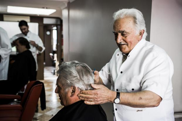 SALON STYLE: Frank Todaro was cutting hair up until last year, said son Domenico.  PICTURE: C J Photography Wales.