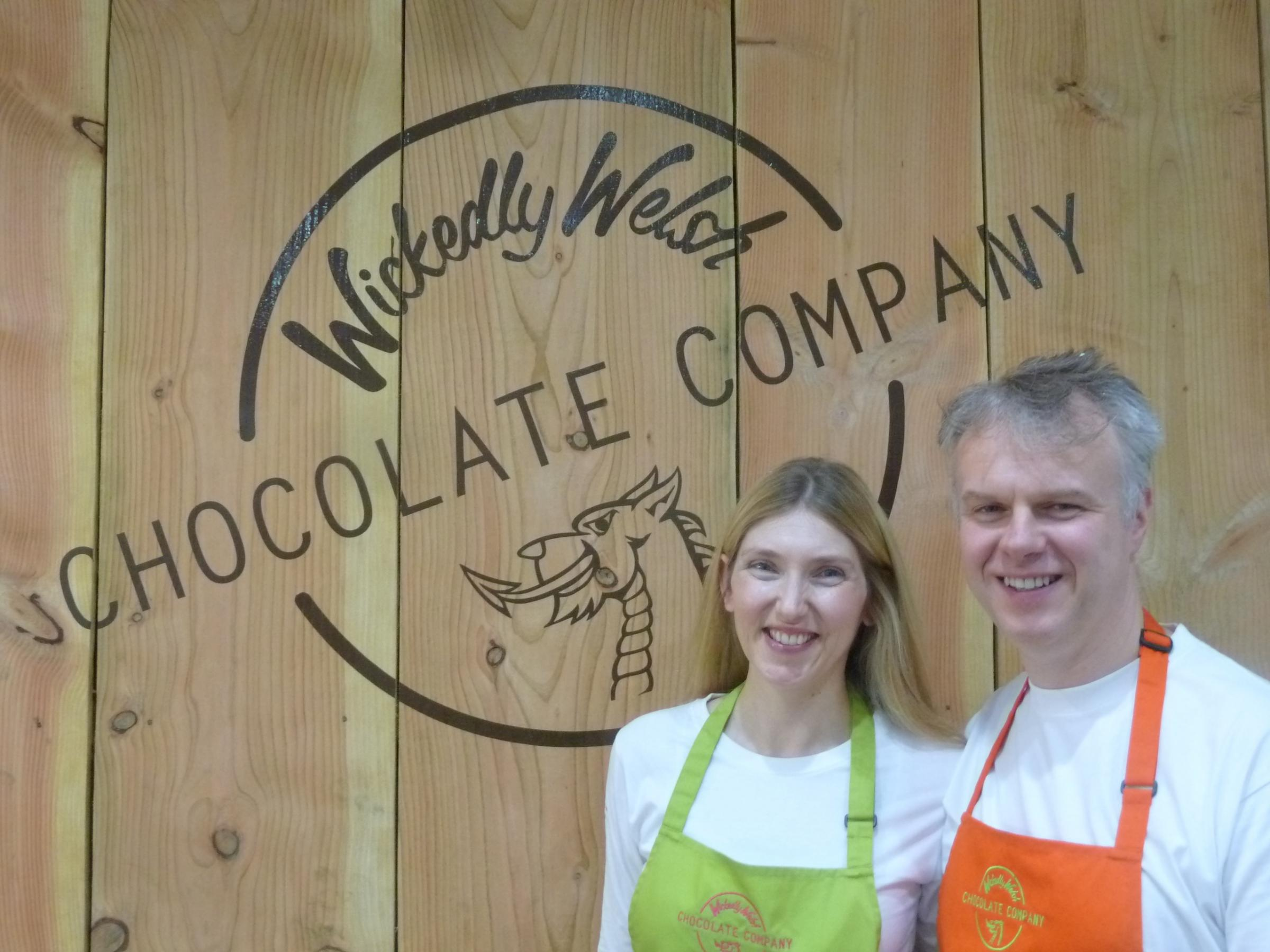 CHOCOLATE LOVERS: Mark and Karen OwenPICTURE: Western Telegraph