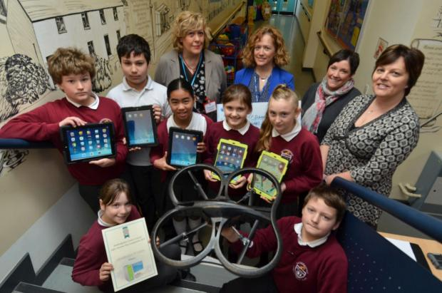 PLEASED.COM: Saundersfoot School was one of two local schools to bag the £100 prize. (5558116)