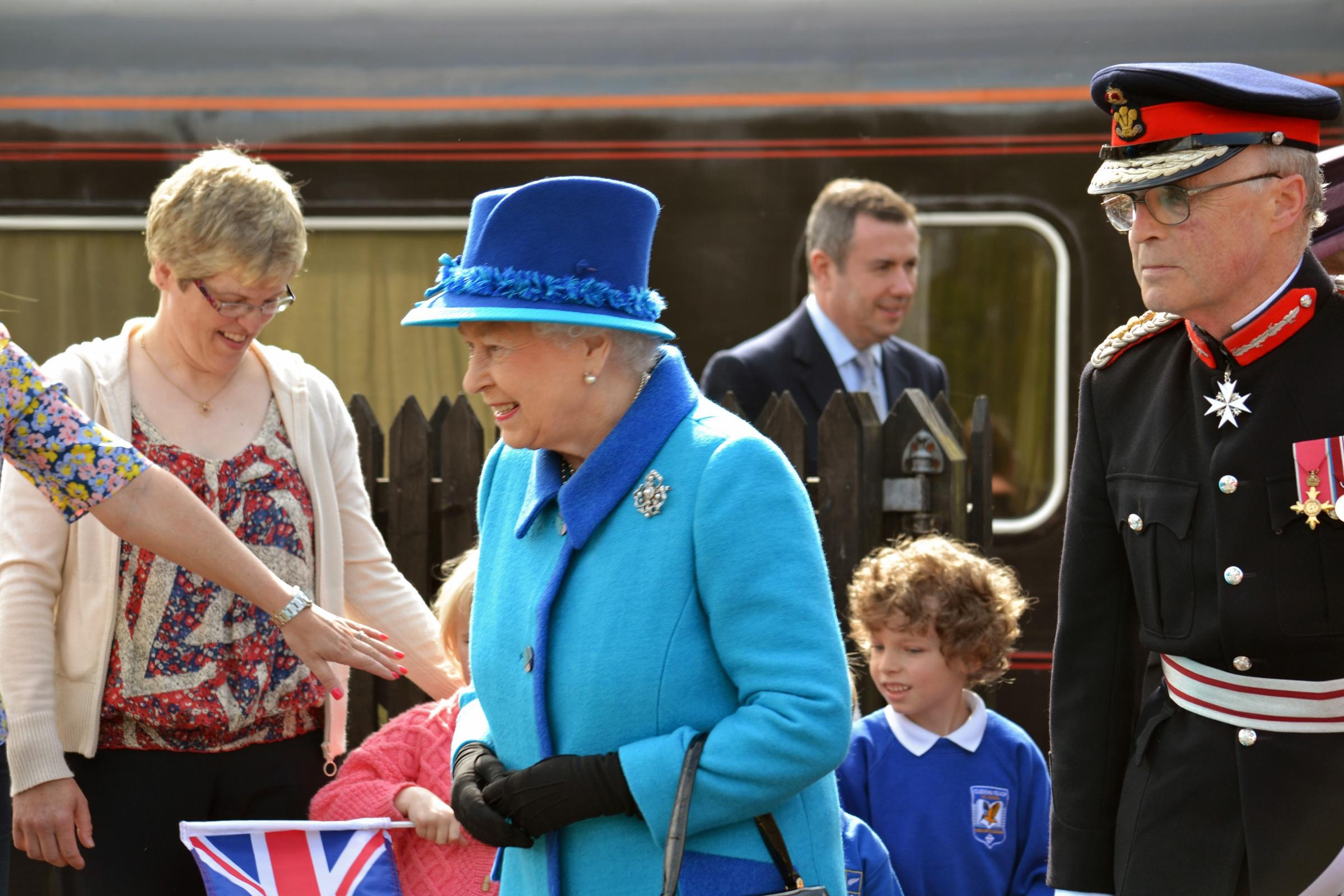 ROYAL VISIT: The Queen arrives in Haverfordwest