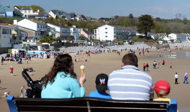 Saundersfoot beach retained its Blue Flag. PICTURE: Gareth Davies Photography.