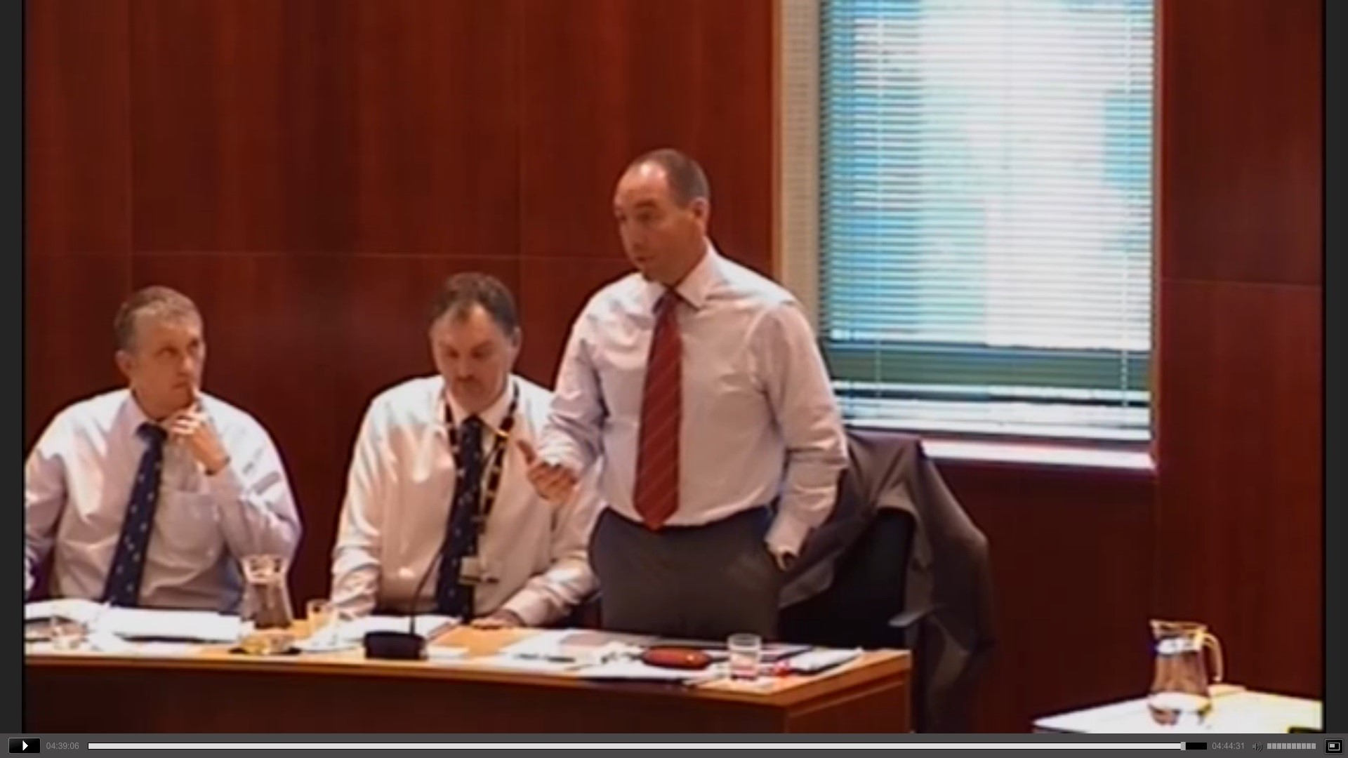 Council leader Jamie Adams during a previous council webcast.