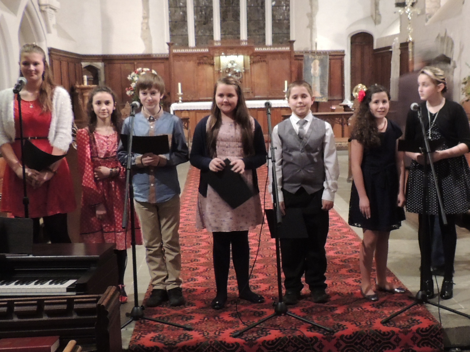 HOME-GROWN TALENT: The local members of the Welsh children's choir On