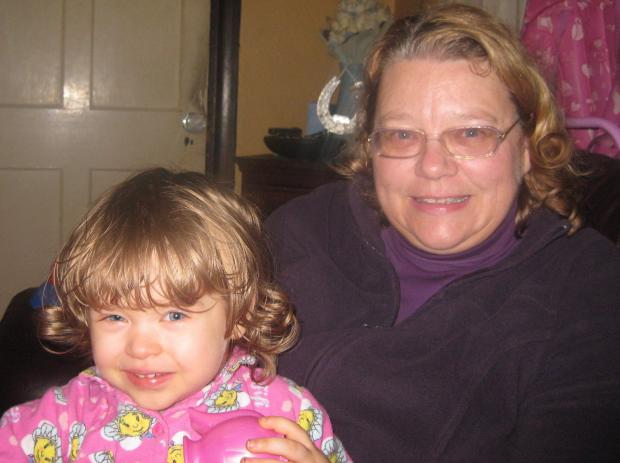 Tina Norman with granddaighter Ellie.