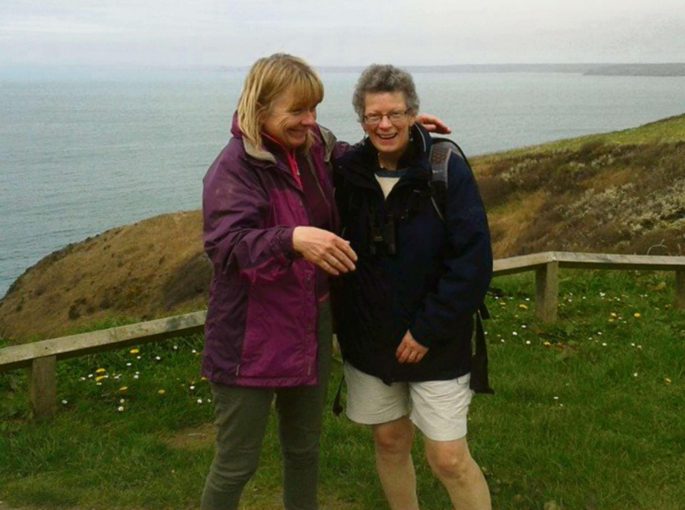 PUSHING THEIR LIMITS: Alison (left) and her friend Lyn have been training for their epic 186-mile fundraiser.