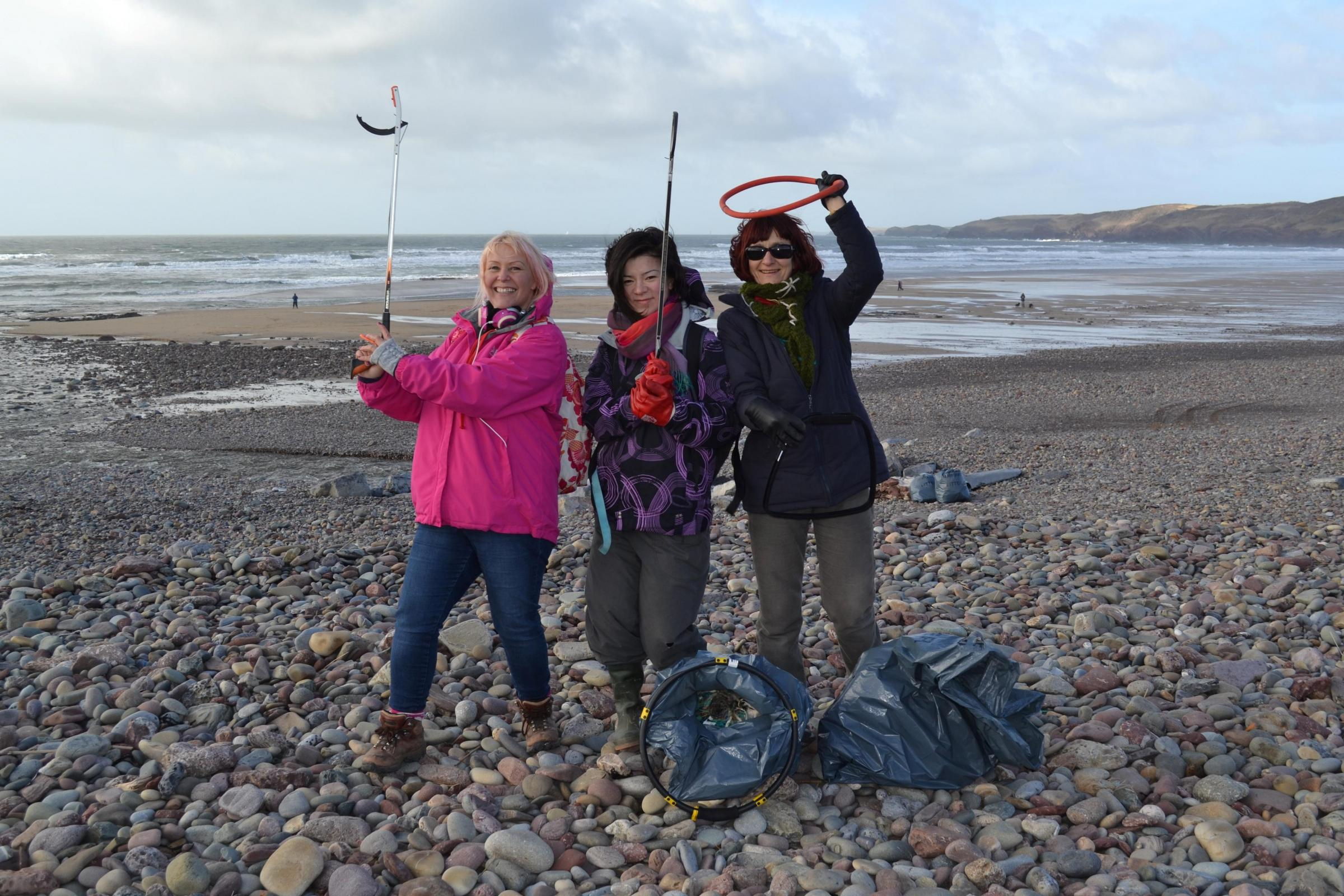 MAKING WAVES: A series of beach cleans are taking part in Pembro
