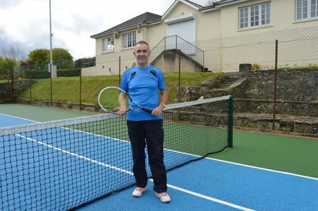 TENNIS ACE: Richard Davies is doing a 24 hour tennis marathon at HaverfordwestTennis Club to raise money for charity (5847718)