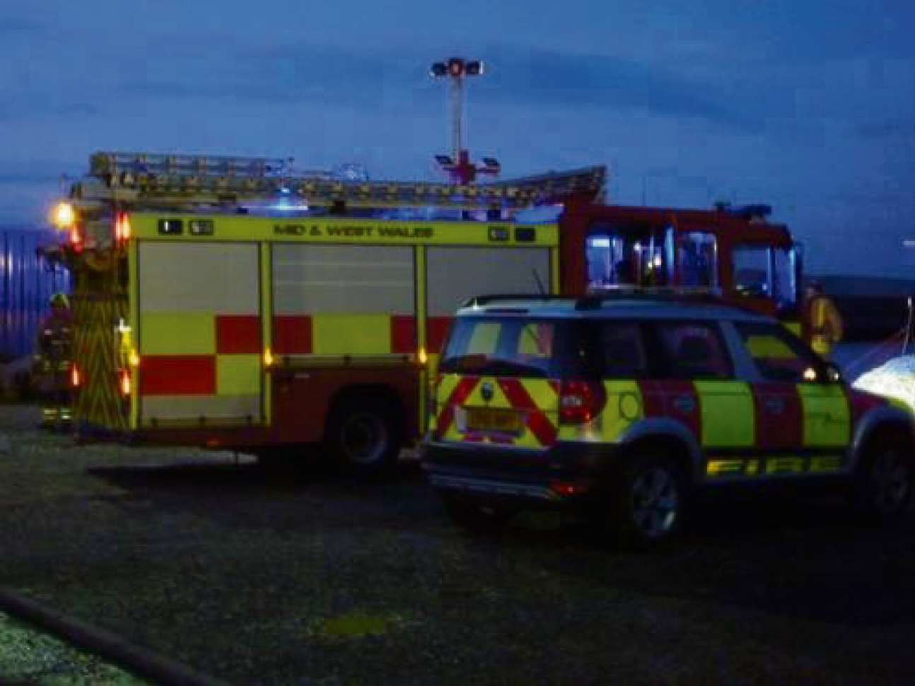 Boat catches fire in Fishguard Harbour