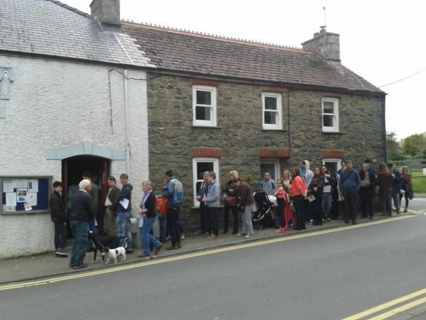 Crowds queue in Solva for a chance to be an extra in Under Milk Wood