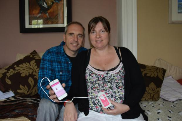 REASSURED: Mark and Tina Boulcott from Herbrandston are trialling the new Unborn Heart app.PICTURE: Western Telegraph