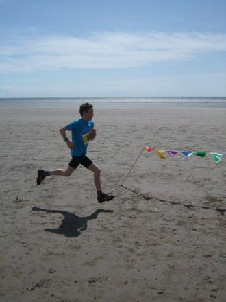 TAKING PART: Sulien Luckman loved the 2012 Pendine Sands fun run, his loved ones will take place in it in his memory tomorrow..