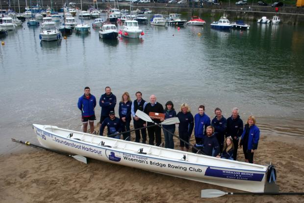 Western Telegraph: Showing support: Saundersfoot Harbour Commission is backing Wiseman's Bridge Rowing Club, which hosts Sunda