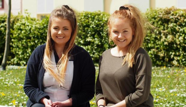 BEST FRIENDS: Laura Venables (right) and Eleri Buck are hosting the fundraising concert in tribute to their families. PICTURE: Western Telegraph.