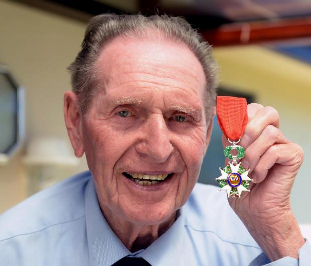 MEDAL OF HONOUR: D-Day veteran Gordon Prime with his Legion d'Honneur medal. PICTURE: Gareth Davies Photography  (7179759)