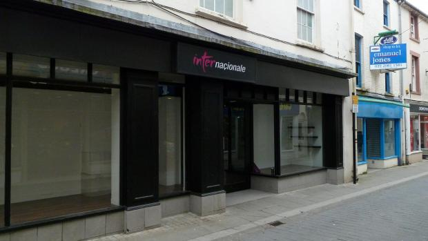 Haverfordwest Bridge Street is among the areas with empty shops.