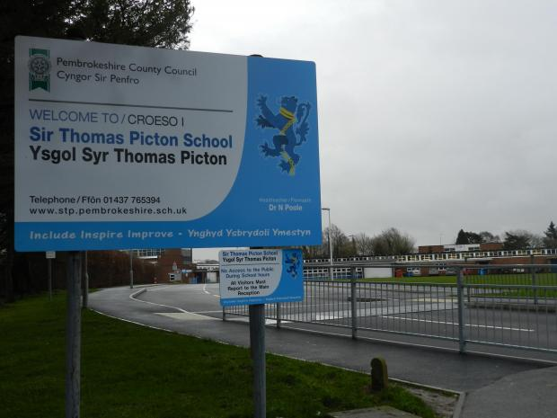 Western Telegraph: Sir Thomas Picton School will be closed tomorrow, Tuesday (July 1st)