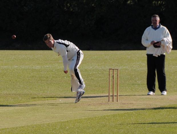 PACE BOWLER: Henry Durrant took five wickets for Neyland in their Welsh Cup success against Dafen Welfare. PICTURE: Ian Miller. (8197985)