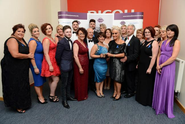 LIFETIME ACHIEVEMENT ACCOLADE: Celebrations at the Welsh Hair and Beauty Awards for Todaro's. (8363932)