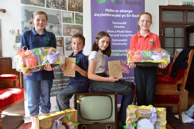 KEEPING THE LANGUAGE ALIVE: School children from Ysgol Llanychllwydog and Ysgol Casmael were involved in the Pembrokeshire Dialect project.PICTURE: Western Telegraph (8365530)