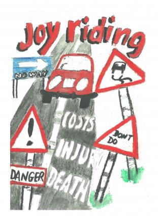 NO JOY: A teenager convicted of joyriding has produced a poster warning of the perils of this dangerous behaviour. (8687019)