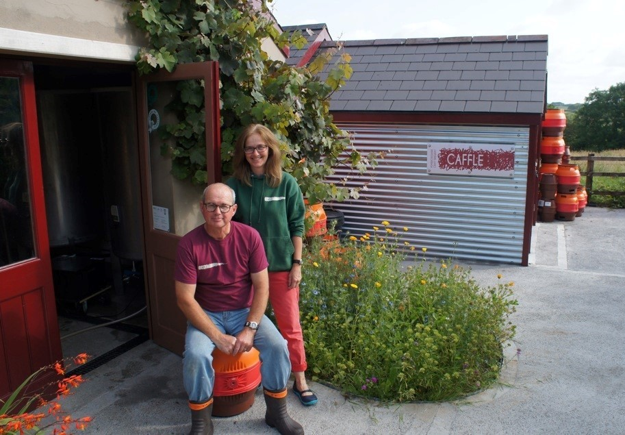 Raise a glass: Sharon and Chris Bannister of Caffle Brewery. (8841718)