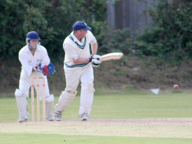 WHAT'S UP DOC?: Simon 'Doc' Holliday struck a fine half century and also took two wickets for the Haverfordwest. (8892239)