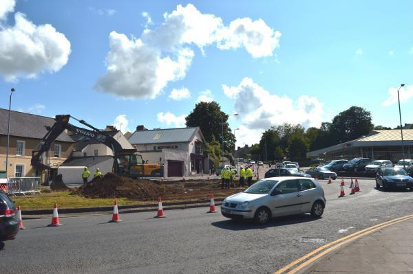 The work on the Churnworks roundabout has now started.