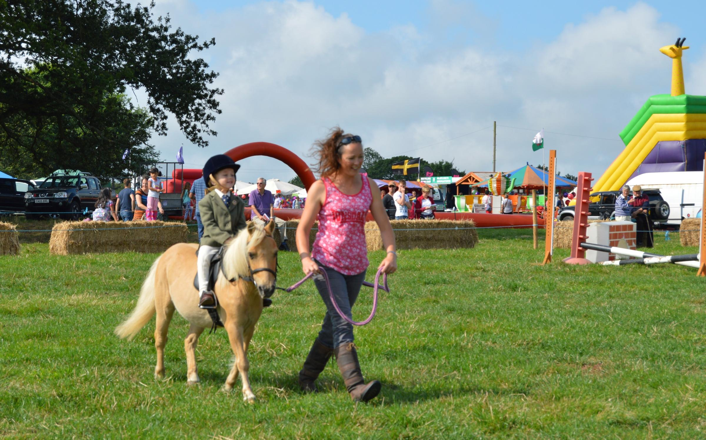 The sun shines down on Pembroke Show