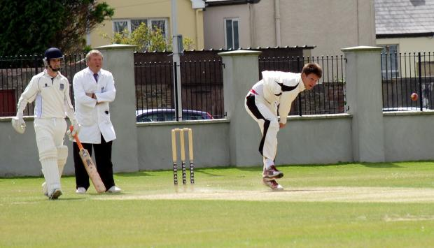 PACE MAN: Nathan Banner took five wickets for Neyland in their victory against Whitland. PICTURE: Western Telegraph. (9126328)