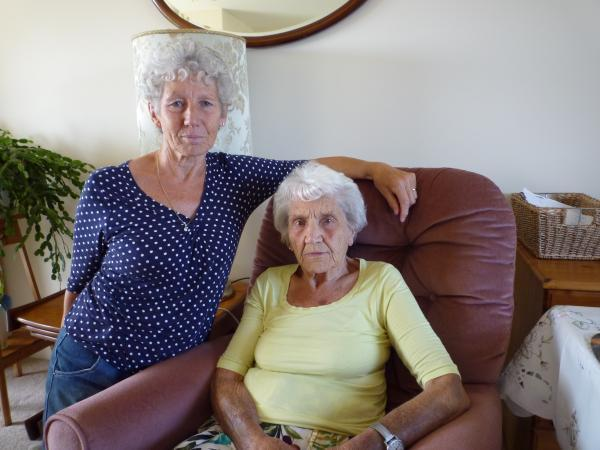 UTTERLY DISGUSTED: 89-year-old Sylvia Fewery, pictured here with her daughter Jackie Williamson, said she was