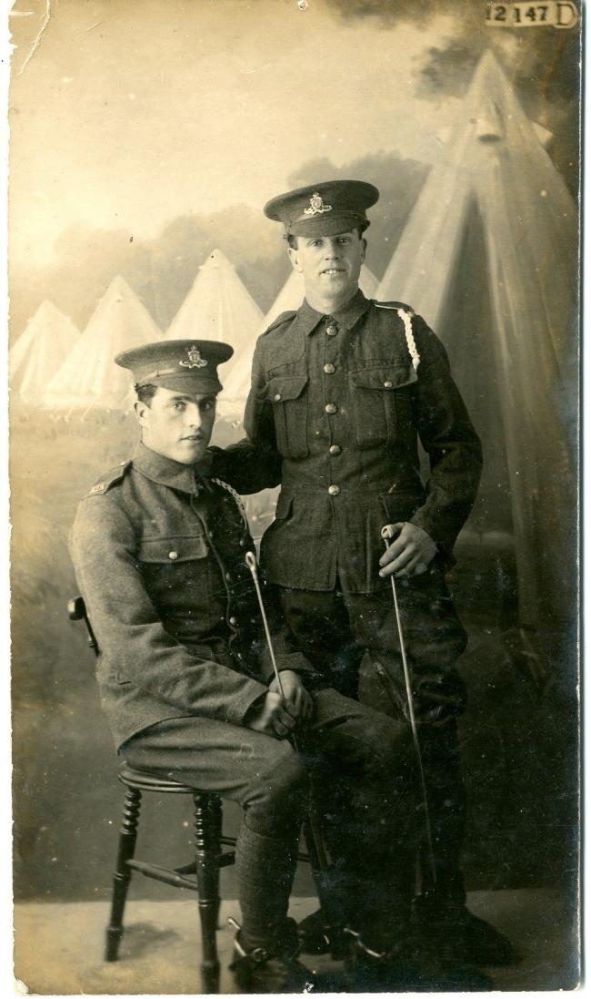 Double tragedy: The Salmon brothers died in the Somme a day apart. (9350111)