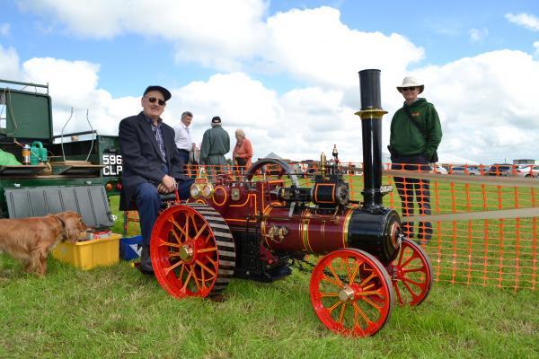 ENGINEERING MAGIC: Tom Griffiths, from Wolfscastle with his working model traction engine at last year's Camrose Vintage Working Day.