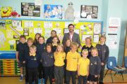 DEMOCRACY IN ACTION: Stephen Crabb MP has been made an honorary member of Ysgol Bro Dewi's school council.  (11518553)
