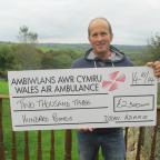 Western Telegraph: GIVING BACK: Dylan Adams pledged to raise money for the Wales Air Ambulance after suffering a serious fall.  (11603254)