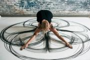 DANCE DRAWING: A demonstration of kinetic drawing which merges dance and sketching.