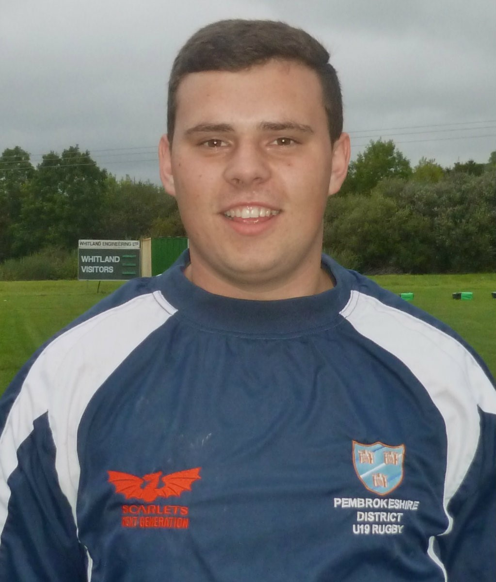 BIG IMPRESSION: Cyle Weatherall is making an impression playing at senior level in the back row for Whitland RFC. (11566274)