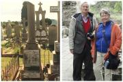 Left: Tombstone of George Essex Evans in Toowoomba, Australia. Right: Vince and Dr Heather Little have been researching the origins of George Essex Evans in Haverfordwest. (11693808)