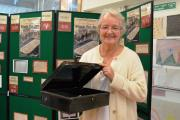 BRINGING LETTERS TO LIFE: Prudence Bell with the black tin box in which she found the letters written by her great-grandparents.  PICTURE: Western Telegraph (12095127)