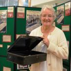 Western Telegraph: BRINGING LETTERS TO LIFE: Prudence Bell with the black tin box in which she found the letters written by her great-grandparents.  PICTURE: Western Telegraph (12095127)